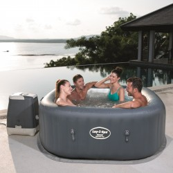 Spa gonflable carré Hawaii Hydrojet Pro 4-6 places - Lay-Z-Spa BESTWAY