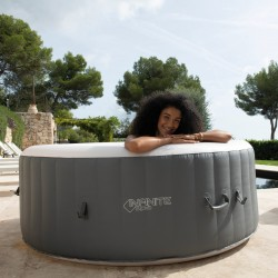 Spa gonflable rond XTRA 4 places anthracite/blanc perle H65 x Ø180 cm - Infinite®Spa