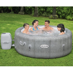 Spa gonflable rond Honolulu AirJet 4 à 6 places aspect rotin - Lay-Z-Spa BESTWAY