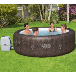 Spa gonflable rond St Moritz AirJet 5 à 7 places aspect rotin - Lay-Z-Spa BESTWAY