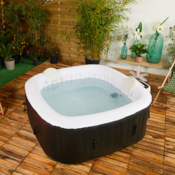 Spa gonflable carré 4 places Malaga 154x154x65cm – Cocooning Water